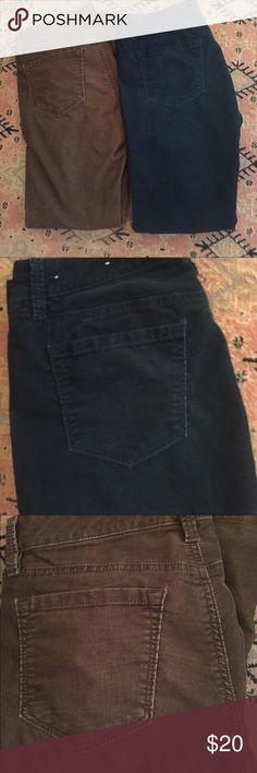 Two pairs Ann Taylor LOFT corduroys Two pairs Ann Taylor LOFT corduroys.  Originally $44 each.  Sized 6P. LOFT Pants