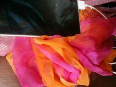 Chiffon color gradid tie n die scarf