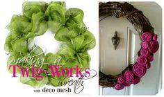 88 BEAUTIFUL WREATHS TO MAKE! FREE PATTERNS  Learn how to make wreaths with these  pictured tutorials. Make wreaths for any occasion, season, and holiday. Youll find a door wreath to make using almost anything like rag wreaths, floral and flower wreaths, paper, heart, and even candy wreaths!