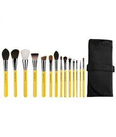 Studio The Collection 14pc. Brush Set with Roll-up Pouch   Bdellium Tools #vegan #ecofriendly #crueltyfree