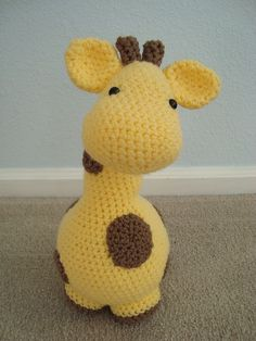Crochet giraffe pattern. Pattern link corrected. http://www.ravelry.com/patterns/library/gigi-giraf . See the other pin. Click on ravelry link, not photo.