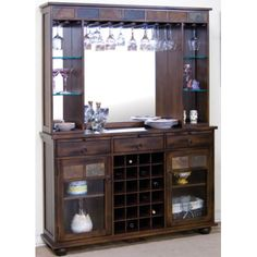 Hillsdale Furniture's Tuscan Retreat Tall Wine Storage | Overstock ...
