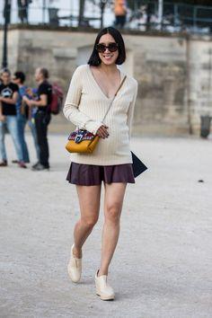 Eva Chen at Paris Fashion Week. Photo: Sandra Semburg/Getty Images