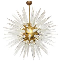 The Italian Sputnik Chandelier | From a unique collection of antique and modern chandeliers and pendants at https://www.1stdibs.com/furniture/lighting/chandeliers-pendant-lights/