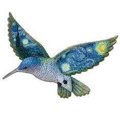 A hummingbird carrying Starry Night on its wings... by The Bradford Exchange