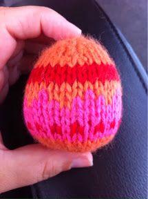 Easter Egg - Free Knitting Pattern here: http://lunchboxofawesome.blogspot.co.nz/2014/02/easter-egg-knitting-pattern.html