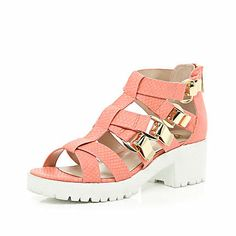 Coral chunky strap cleated sole sandals £38.00