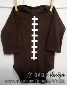 LONG SLEEVE Football Sports Fanatic Onesie by OVELO on Etsy, $20.00