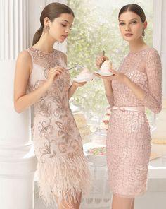 2016 Blush Pink Weddings_ Sequin Blush Pink Bridesmaid dress ideas  by AireBarcelona vestido_fiesta_AB_8U231