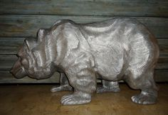 Silver Bear Wild West, Lion Sculpture, Bear, Statue, Silver, Bears, American Frontier, Sculptures, Sculpture