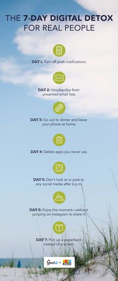 Resisting the urge to type, text, and post is no small feat. We're here to help. #letsreconnect #unplug #digitaldetox http://greatist.com/grow/one-week-digital-detox-plan