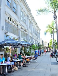 Cafes along Orange Ave., Coronado,ca