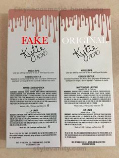 How to Spot a Fake Kylie Jenner Lip Kit? And Where Not to Buy Them - Style Vanity