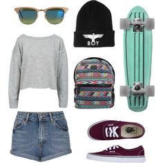 """Longboard outfit"" by marian16399 on Polyvore"
