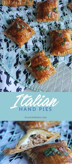 Italian Hand pies for #SundaySupper. Scrumptious Filling. Completely irresistible. Totally addictive.