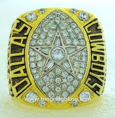 NFL 1992 Dallas Cowboys Super Bowl XVII Championship Ring.
