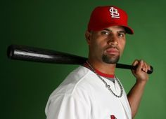 Albert Pujols Photos - Albert Pujols of the St. Louis Cardinals during photo day at Roger Dean Stadium on February 2009 in Jupiter, Florida. (Photo by Doug Benc/Getty Images) * Local Caption * Albert Pujols - St. Baseball Photos, Baseball Shirts, Baseball Players, St Louis Cardinals Baseball, Stl Cardinals, Albert Pujols, Sports Pictures, Best Player, The St