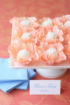 Coconut Orange Truffle recipe and How to make mini flower favor ideas with a cute truffle!