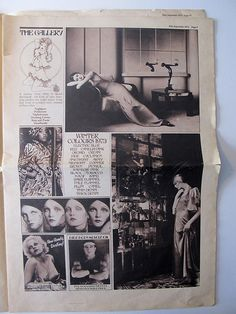 * The Biba newspaper was designed by Steve Thomas in the late summer of 1973 (page 5)