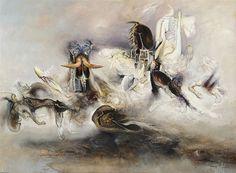 "James Gleeson ""A Session of the Secret Court"", 2000 oil on linen x cm Charles Nodrum Gallery Australian Painters, Australian Artists, Henry Thomas, Artist Painting, Surrealism, The Secret, Art Gallery, Spirit, Paintings"