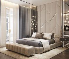 Modern Luxury Bedroom, Luxury Bedroom Design, Bedroom Closet Design, Bedroom Furniture Design, Home Room Design, Contemporary Bedroom, Luxurious Bedrooms, Bedroom Decor, Living Room Partition Design