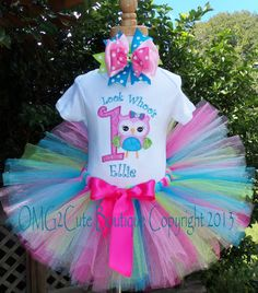 Items similar to Look Whoo's One Owl Birthday outfit --Party outfit --Photo Prop -Can be personalized with name and any BD number on Etsy Owl First Birthday, Owl Birthday Parties, 1st Birthday Outfits, Birthday Tutu, Girl Birthday, Birthday Ideas, Birthday Crafts, Owl 1st Birthdays, Lany