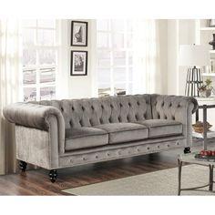 Lowest Price Online On All Abbyson Living Velvet Sofa In Gray