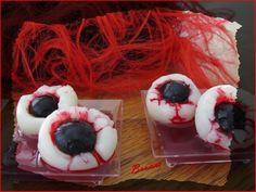 Recette monstrueuse oeil de sorcière pour Halloween - dessert litchi et raisin ! - Le blog de thingsilove