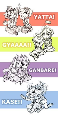 Yuya, Yuzu,Yugo, Rin,Yuto, Yuri and Serena