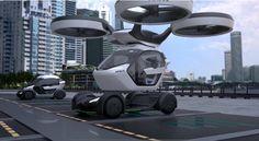 #Curiosidades #concepto #tecnología Airbus muestra concepto de coche modular que puede viajar por tierra y aire
