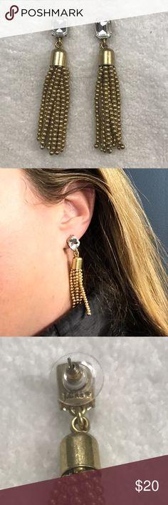 J.Crew Diamond Tassel Earrings J.Crew Diamond Tassel Earrings, worn once, excellent condition! J. Crew Jewelry Earrings