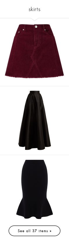 """""""skirts"""" by abald ❤ liked on Polyvore featuring skirts, bottoms, faldas, saia, burgundy, corduroy skirt, a-line skirts, burgundy corduroy skirt, corduroy a line skirt and knee length a line skirt"""