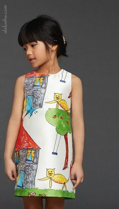 Ideas baby girl drawing daughters for 2019 Fashion Kids, Little Girl Fashion, Little Girl Dresses, Toddler Fashion, Fashion Art, Baby Dresses, Dolce And Gabbana Kids, Dolce & Gabbana, Baby Girl Drawing