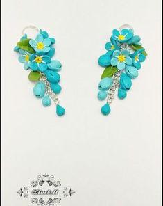 Bluebell.Bluebell | Breslo Polymer Clay, Drop Earrings, Jewelry, Fimo, Jewlery, Jewerly, Schmuck, Drop Earring, Jewels