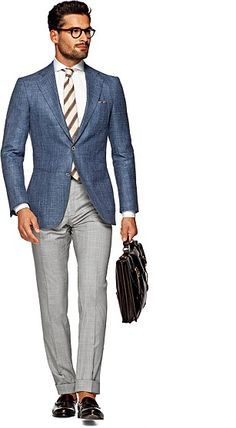 Suitsupply Jackets: We couldn't be more proud of our tailored jackets. Blue Blazer Outfit Men, Blazer Outfits Men, Groomsmen Outfits, Groom Outfit, Men's Suit Separates, Suit Fashion, Mens Fashion, Suit Supply, Suit Combinations