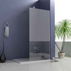 Quality Walk In Shower Enclosure Wet Room Bathroom Cubicle Glass Screen Panel Wet Room Shower Screens, Bath Screens, Shower Doors, Large Shower Trays, Wet Room Bathroom, Bathroom Ideas, Bath Room, Small Bathroom, Bathroom Makeovers