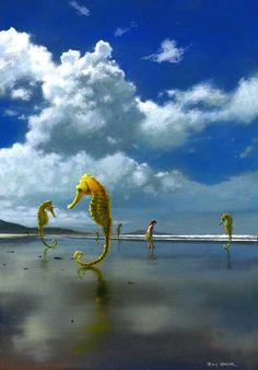 Seahorses by Jimmy Lawlor - PRINT - The Keeling Gallery