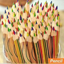 10 pcs/Lot Rainbow color pencil 4 in 1 colored pencils for drawing Stationery drawing Office material school supplies 6292 Led Pencils, Artist Pencils, Types Of Pencils, Colored Pencils, Painting For Kids, Art For Kids, Children Painting, Watercolor Pencils Techniques, Crayon Drawings