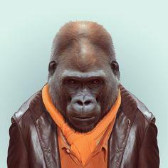 Zoo animals are so en vogue in this hilarious portrait series | Creative Boom Blog | Art, Design, Creativity