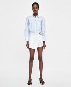 Image 1 of SKORTS WITH BELT from Zara