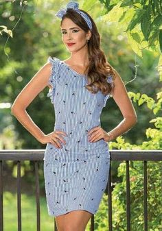 Pin by FDT Head on Latest Summer dress 2019 Simple Dresses, Pretty Dresses, Beautiful Dresses, Casual Dresses, Fashion Dresses, Short Sleeve Dresses, Summer Dresses, Embroidery Fashion, Sweet Dress