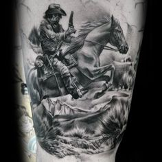 Cool Cowboy Tattoos And Tattoo Ideas For Men From: TattoosWin.com/