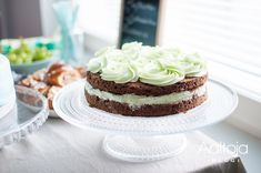 Mint chocolate cake.