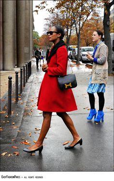 Sensible shoes become chic on Shala Monroque.