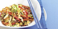 Recipe for Mongolian Lamb and Vegetables