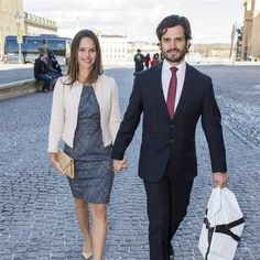 sarahbellar:  Members of the Swedish Royal Family attended the christening of Desiree Magnusson, daughter of Gustaf and Vicky Magnusson and first grandchild of Princess Christina, March 21, 2015-Sofia Hellqvist and Prince Carl Philip