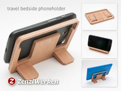 Travel Bedside Phoneholder cnc/laser by ZenziWerken - Thingiverse