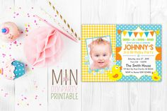 Rubber Duck Birthday Photo Invitation,Rubber Duck,Rubber Ducky Invitation,Yellow rubber duck birthday party,Rubber Duck Birthday by minprintable on Etsy https://www.etsy.com/listing/260590188/rubber-duck-birthday-photo