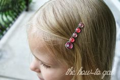 The How-To Gal: DIY Earrings and Hair Clips from Scrapbook Brads