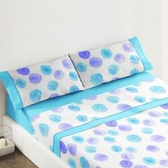 Burrito Blanco juego de sabanas de verano diseño 431 azul camas de 135